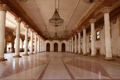 Darbar Hall av Royal Palace, Indore Arkivfoto