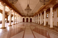 Darbar Hall of Royal Palace, Indore. Darbar Hall of Historic Royal Palace Rajwada of Indore. This is the part of restored building having contemporary look of Stock Photos