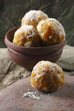 Darbesh is a sweet balls made from Bonde Royalty Free Stock Photos