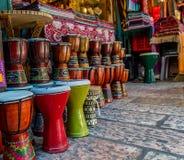 Darbuka, market in Old Jerusalem Stock Images