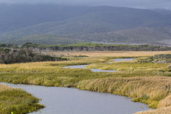 Darby River and Darby Swamp, Wilsons Promontory. Darby River and Swamp, Wilsons Promontory, Victoria, Australia Stock Photo