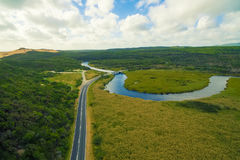Darby River, Wilson`s Promontory, Australia. Scenic aerial view of Wilson`s Promontory in Victoria, Australia. Darby River Royalty Free Stock Image