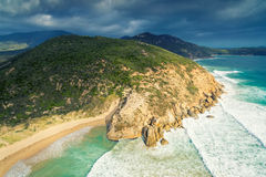 Darby River, Wilson`s Promontory, Australia. Scenic aerial view of Wilson`s Promontory in Victoria, Australia. Darby River Stock Photos