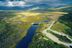 Darby River, Wilson`s Promontory, Australia. Scenic aerial view of Wilson`s Promontory in Victoria, Australia. Darby River Stock Images