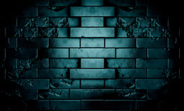 Darck brick wall Stock Photo