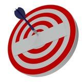 Dard frappant la cible centrale sur la cible Photographie stock libre de droits