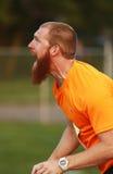 Darda rzutu mężczyzna atleta Wrzeszczy obrazy stock
