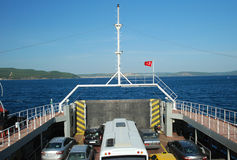 Dardanellen-Autofähre, Ãanakkale, die Türkei Stockfotografie