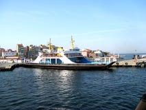 Dardanelles strait near Troy (Truva) Truva, feriboats Royalty Free Stock Image