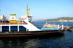 Dardanelles strait near Troy (Truva) Truva, feriboats Royalty Free Stock Photos