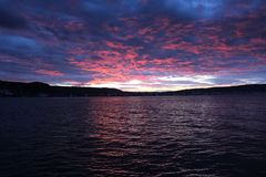 Sunset at Gelibolu. The Dardanelles and the sunset at Gelibolu Royalty Free Stock Photo