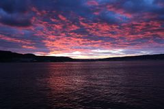 Sunset at Gelibolu. The Dardanelles sunset at Gelibolu Royalty Free Stock Images