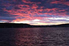 Sunset at Gelibolu. The Dardanelles and the sunset at Gelibolu Stock Photography