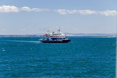 Dardanelles, Turkey. Ferry in the Strait of Dardanelles Royalty Free Stock Images