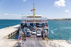Dardanelles, Turkey. Start unloading car ferry Royalty Free Stock Image