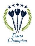 Dardeggia l'emblema di sport di shampion Immagini Stock