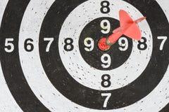 dardeggia la freccia nel centro dell'obiettivo Fotografia Stock Libera da Diritti