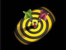 Dardi sul bullseye Fotografia Stock Libera da Diritti