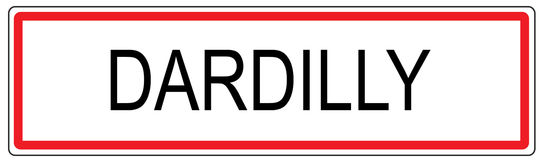 Dardilly city traffic sign illustration in France Royalty Free Stock Image