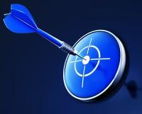 Dardo azul Imagens de Stock