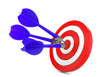 Dardo che colpisce un obiettivo, concetto di successo Immagini Stock Libere da Diritti