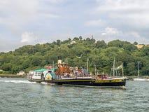 Dardo do rio do navio de pá do castelo de Kingswear, Devon Fotos de Stock Royalty Free