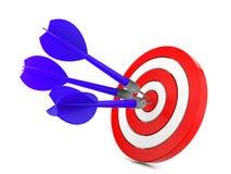 Dardo que bate um alvo, conceito do sucesso Imagens de Stock Royalty Free