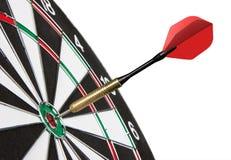 Dardo rosso che colpisce un obiettivo Immagine Stock Libera da Diritti