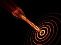 Dardo y blanco del fuego en la obscuridad ilustración del vector