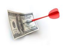 Dardo y dinero ilustración del vector