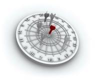 Dardos, bullseye vermelho 3D Fotografia de Stock