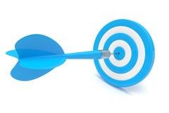 Dardos de la flecha en blanco stock de ilustración