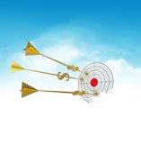 Dardos del asunto Se nubla meta Flecha de oro - dólar libre illustration