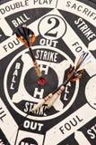 Dardos do basebol Fotos de Stock Royalty Free