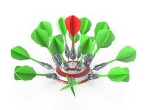 Dardos que golpean una blanco 3D libre illustration