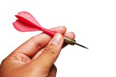 Dardos rojos de la flecha a disposición aislados en blanco Imagenes de archivo