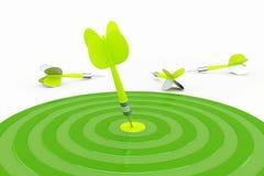 Dardos verdes Fotografía de archivo libre de regalías