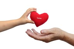 Dare amore Immagine Stock