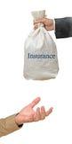 Dare assicurazione Fotografia Stock Libera da Diritti