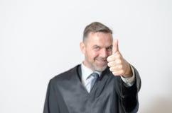 Dare dell'uomo d'affari pollici aumenta il gesto Fotografia Stock Libera da Diritti