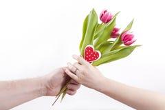 Dare i fiori Fotografie Stock Libere da Diritti