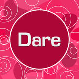 Dare Pink Random Circles Background Stock Images