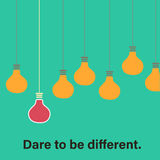 Dare to be different concept Royalty Free Stock Photography