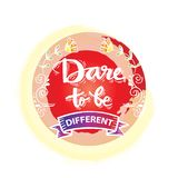 Dare to be different lettering. Motivational quote Royalty Free Stock Image