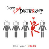 Dare to be different. Stock Photography