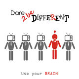 Dare to be different. Stock Photos