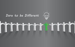 Dare to be different Royalty Free Stock Photography