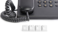 Dare to call the phone Royalty Free Stock Image