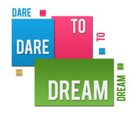 Dare To Dream Colorful Squares Text Royalty Free Stock Image