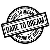 Dare To Dream rubber stamp Stock Photography